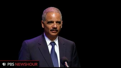 PBS NewsHour -- Holder calls hate crimes an 'affront to who we are'