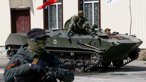PBS NewsHour -- Pro-Russian militias occupy buildings in eastern Ukraine