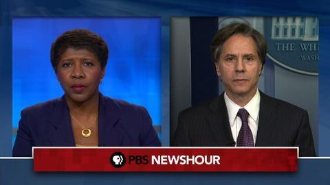 PBS NewsHour -- U.S. sanctions Putin associates to force 'clear choice'