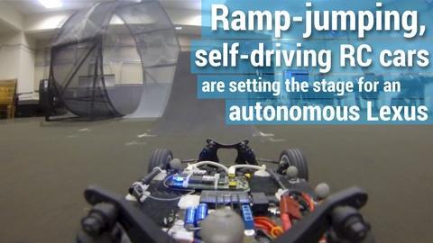 PBS NewsHour -- Lab using RC cars to build a better autonomous vehicle