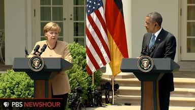 Obama and Merkel speak about Russia, spying and the economy