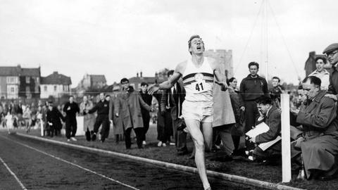 PBS NewsHour -- Bannister recalls the day he conquered the four-minute mile