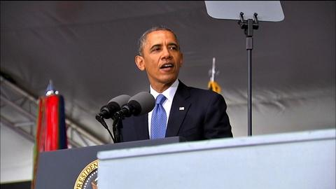 PBS NewsHour -- Obama urges middle ground between isolation, intervention