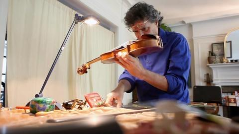 PBS NewsHour -- Violinmaker uses CT scans, 3D lasers to hone craft
