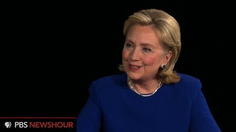 PBS NewsHour -- Hillary Clinton acknowledges stumbles on wealth