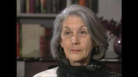 PBS NewsHour -- Nobel-winning South African author Nadine Gordimer in 1987