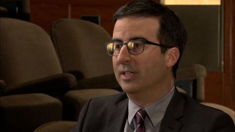 PBS NewsHour -- Comedian John Oliver on making fun of serious news