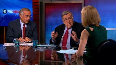 PBS NewsHour -- Shields and Brooks on Israel's incursion, challenging Russia
