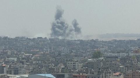 PBS NewsHour -- Gaza 'bombarded' amid signs of cease-fire breakdown