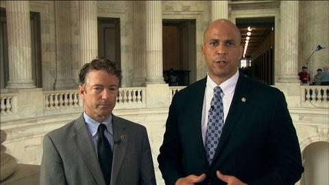 PBS NewsHour -- Rand Paul, Cory Booker team up for REDEEM Act