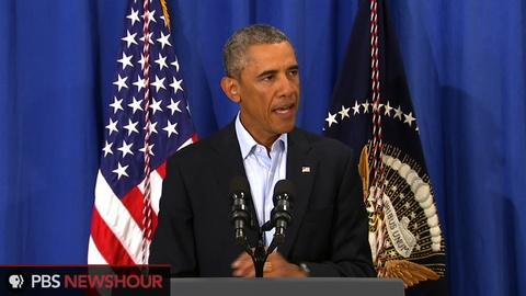 PBS NewsHour -- Obama: World is appalled by James Foley's killing