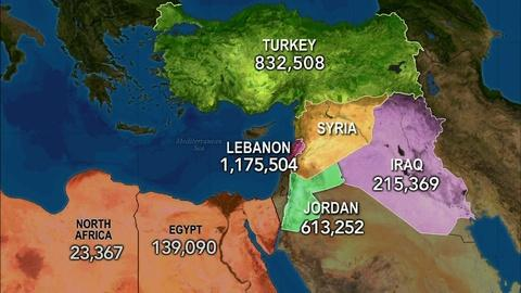 PBS NewsHour -- 3 million Syrian refugees strain neighboring countries