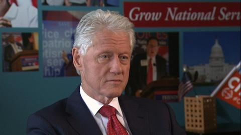 PBS NewsHour -- Clinton: I'm not sure we'll ever eliminate domestic violence