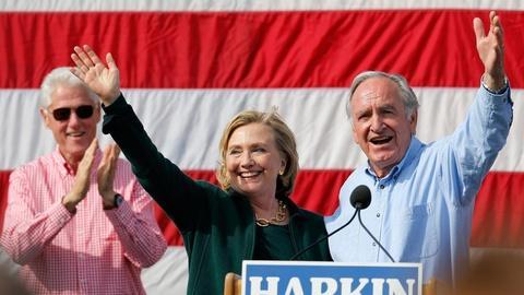 PBS NewsHour -- She's 'baack' — Hillary Clinton returns to Iowa