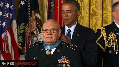 PBS NewsHour -- Two Vietnam veterans receive the Medal of Honor
