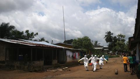 PBS NewsHour -- Liberia, Sierra Leone at Ebola 'tipping point'