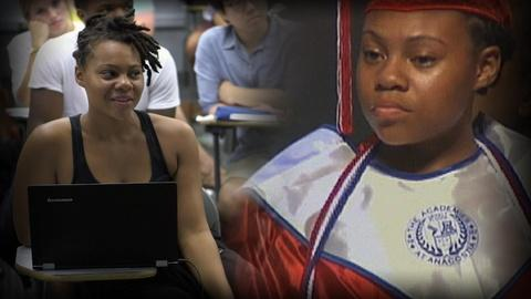PBS NewsHour -- One student's path from homeless shelter to Georgetown
