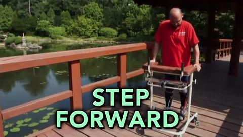 PBS NewsHour -- Paralyzed man walks after transplanted cells