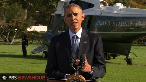 PBS NewsHour -- Obama on Ebola: 'America is not defined by fear'