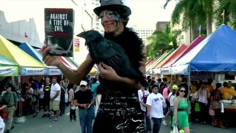 PBS NewsHour -- Miami Book Fair celebrates latest in old-fashioned tech