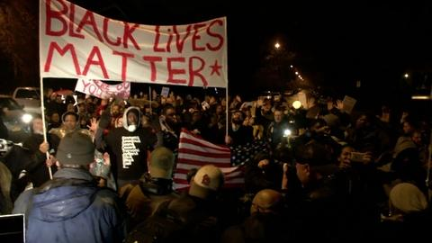 PBS NewsHour -- St. Louis protesters march ahead of grand jury announcement