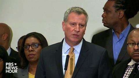 PBS NewsHour -- Watch NYC Mayor Bill de Blasio speak on Eric Garner decision