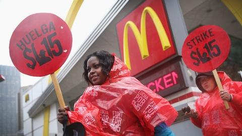 PBS NewsHour -- McDonald's formally accused of worker retaliation