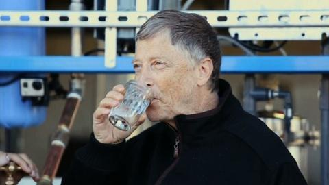PBS NewsHour -- NewsHour Shares: Bill Gates drinks water purified from waste