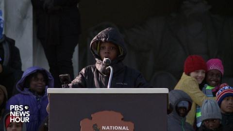 PBS NewsHour -- Students lend their small voices to King's big dream
