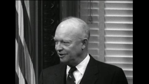 PBS NewsHour -- Eisenhower held first televised news conference 60 years ago