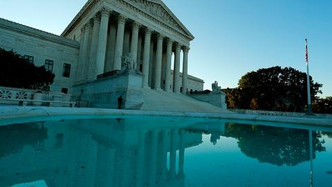 PBS NewsHour -- Case on judges' campaign fundraising divides Supreme Court