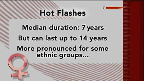 PBS NewsHour -- Hot flashes can strike for more than a decade, study finds