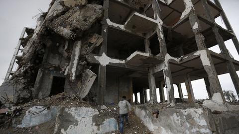PBS NewsHour -- Gazans suffer as post-war rebuilding lags