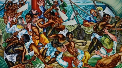 PBS NewsHour : African captives rise up against slavery in Talladega murals