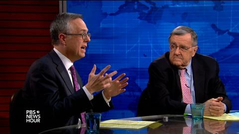 PBS NewsHour -- Shields and Gerson on Netanyahu's timing, Ferguson findings