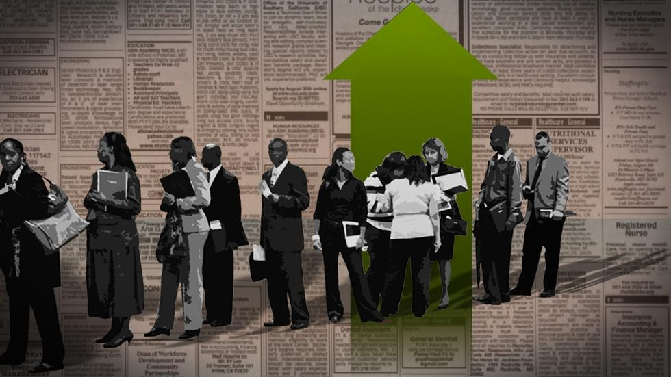 Job gains continue, so why are wages stubbornly stagnant? image