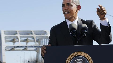 PBS NewsHour -- Finding hope and reality in Obama's speech at Selma