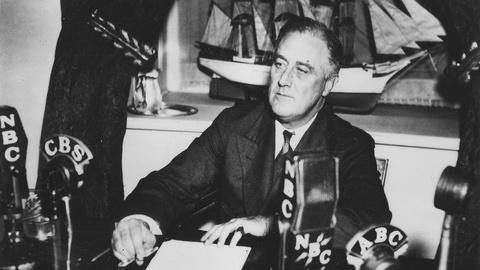 PBS NewsHour -- Gather 'round to hear FDR's first fireside chat