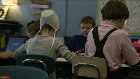 PBS NewsHour -- Tech giants battle for classrooms in Amish country