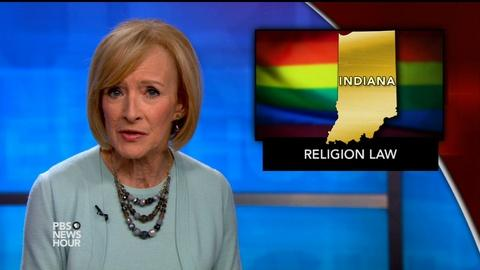 PBS NewsHour -- News Wrap: Ind. lawmakers to clarify religious freedom bill