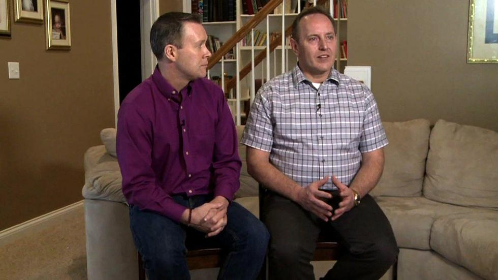 Two families, opposite views of the gay marriage legal fight image