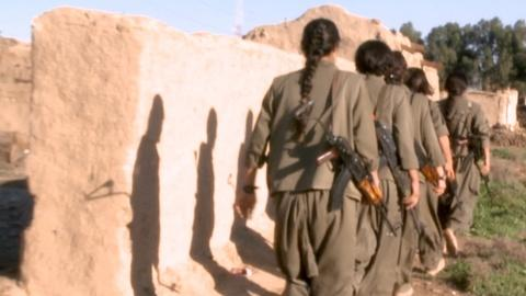 PBS NewsHour -- How women soldiers are confronting the fears of ISIS