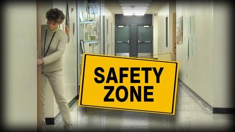 PBS NewsHour -- Student filmmakers try to fix chaotic school safety drills