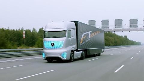 PBS NewsHour -- This tractor-trailer drives itself