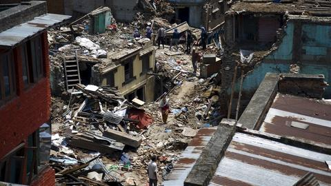 PBS NewsHour -- Nepal suffers 'carpeted destruction' and lingering fear