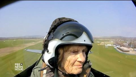 PBS NewsHour -- Female WWII pilot takes flight again