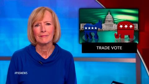PBS NewsHour -- News Wrap: 'Fast-track' trade bill passes House