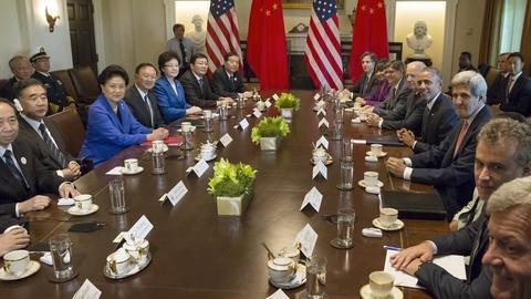 PBS NewsHour -- China, U.S. wrap up talks amid growing distrust