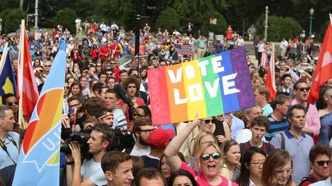 PBS NewsHour -- Historic gay marriage ruling sparks celebration, debate