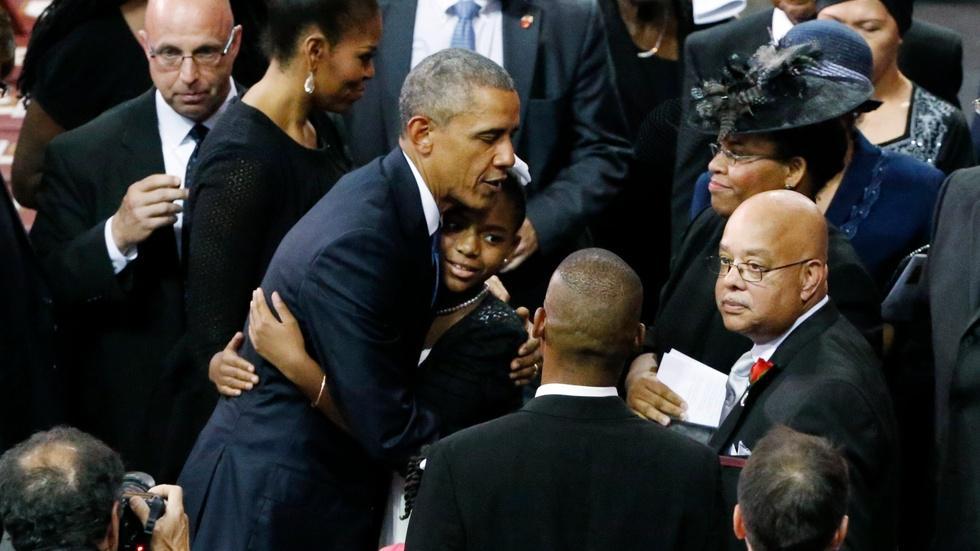 Obama: Out of tragic killing of Rev. Pinckney, we find grace image